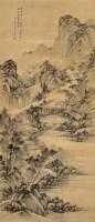 溪山访友 立轴 水墨绢本 - 干旌 - 中国古代书画 - 2005秋季艺术品拍卖会 -收藏网