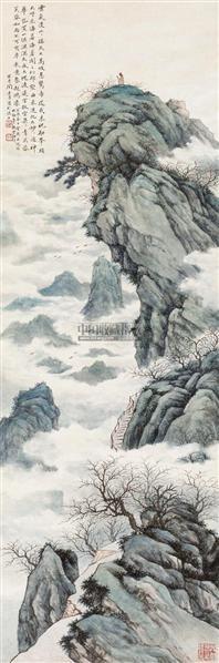 祝融峰云海图 立轴 设色纸本 - 135766 - 中国书画专场 - 首届艺术品拍卖会 -收藏网