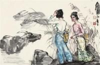 芦荡牧牛 镜片 设色纸本 - 7693 - 中国书画(一) - 2011年秋季艺术品拍卖会 -收藏网