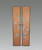 漆青花挂屏 (一对) -  - 古董珍玩 - 2012艺术品拍卖会 -收藏网