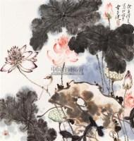 花卉 镜框 设色纸本 - 贾广健 - 中国书画(一) - 2011春季中国书画拍卖会 -收藏网