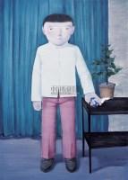 压住他 布面 油画 - 向庆华 - 中国油画雕塑 - 2006秋季艺术品拍卖会 -收藏网