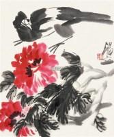 大写意花鸟 镜心 设色纸本 - 2810 - 中国书画 - 2011首场艺术品秋季拍卖会 -中国收藏网