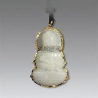 白玉雕观音形坠 -  - 瓷器 玉器 工艺品 - 2011春季艺术品拍卖会 -收藏网