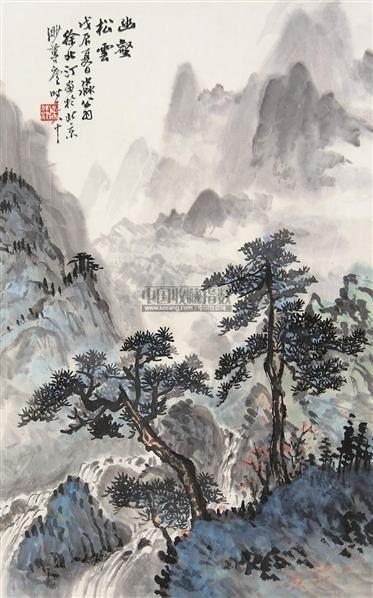 幽鹤松云图 立轴 设色纸本 - 140831 - 中国书画 - 第117期月末拍卖会 -收藏网