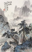 幽鹤松云图 立轴 设色纸本 - 140831 - 中国书画 - 第117期月末拍卖会 -中国收藏网