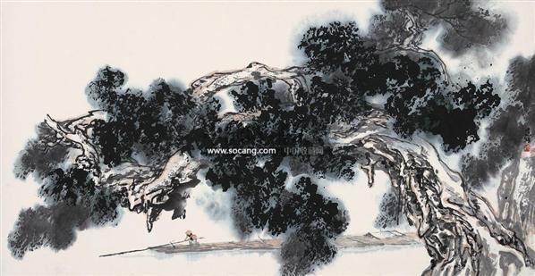 广州华艺国际拍卖有限公司 2006迎春书画拍卖会 中国书画 水墨榕树