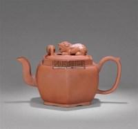 紫砂狮球六方壶 -  - 紫玉天虹—古代紫砂臻品 - 嘉德四季第二十五期拍卖会 -收藏网
