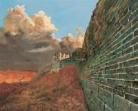 长城 布面 油画 - 王东升 - 油画、雕塑、版画暨广东油画、水彩 - 2006冬季拍卖会 -收藏网