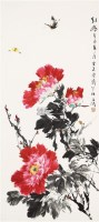 牡丹 立轴 纸本 - 116837 - 中国书画(一) - 2011春季艺术品拍卖会(一) -收藏网