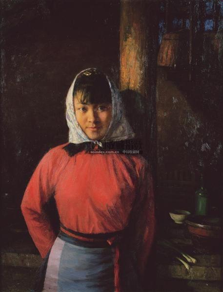 瑛子之二 布面油画 - 10302 - 中国油画及雕塑 - 2006年秋季拍卖会 -收藏网