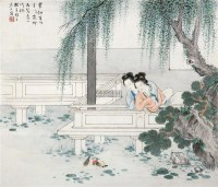 仕女图 立轴 设色纸本 - 125768 - 小品、成扇专场 - 2011秋季艺术品拍卖会 -中国收藏网