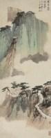 寻白帝洞 立轴 设色纸本 - 116070 - 中国书画 - 2008秋季艺术品拍卖会 -中国收藏网