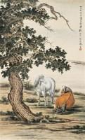 马晋 1947年作 双俊图 立轴 设色纸本 - 116774 - 中国书画 - 2006秋季文物艺术品展销会 -收藏网
