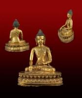 铜鎏金释迦牟尼坐像 -  - 中国古董家具及书画 - 2011年春季拍卖 -中国收藏网