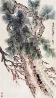 松 立轴 设色纸本 - 孙雪泥 - 中国近现代书画 - 2006秋季艺术品拍卖会 -中国收藏网