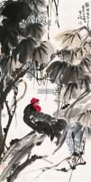 大吉图 镜框 设色纸本 - 李苦禅 - 中国近现代书画 - 2011秋季拍卖会 -中国收藏网