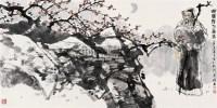 黄昏赏梅图 镜心 设色纸本 - 李晓白 - 中国当代书画 - 2007年秋季拍卖会 -收藏网