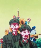 幸福像花儿一样 布面 油画 -  - 油画专场 - 2008春季艺术品拍卖会 -收藏网