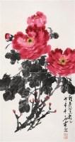 牡丹 立轴 设色纸本 - 147739 - 中国书画 - 第117期月末拍卖会 -收藏网