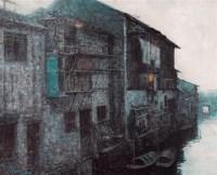 王路 水上人家 油画 - 王路 - 油画专场 - 2006首届艺术品拍卖会 -收藏网