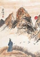 山水 镜框 设色纸本 - 2538 - 中国书画(一) - 2011秋季拍卖会 -收藏网
