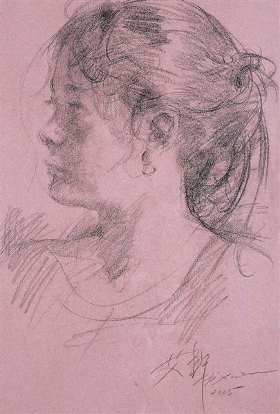 素描女子 - - 中国现当代油画雕塑专场 - 2011秋季拍卖会 -中国收藏网