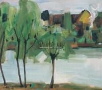 风景 布面 油画 - 罗工柳 - 中国油画 雕塑影像 - 2006广州冬季拍卖会 -中国收藏网
