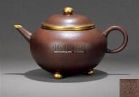 紫砂镶金壶 -  - 紫玉天虹—古代紫砂臻品 - 嘉德四季第二十五期拍卖会 -中国收藏网