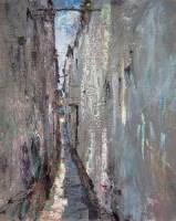 黄里 以前那只能相贴才能通过的小巷 布面 油画 - 155688 - 油画 - 2006年金秋珍品拍卖会 -收藏网