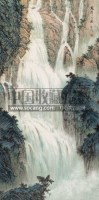 龙潭飞瀑 立轴 设色纸本 -  - 中国书画 瓷器工艺品 - 2007迎新艺术品拍卖会 -收藏网