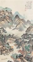 山水 立轴 设色纸本 - 吴琴木 - 书画杂件 - 2007迎春文物艺术品拍卖会 -中国收藏网