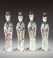 浅浮雕侍女 (四件套) -  - 瓷器 - 2011中博香港大型艺术品拍卖会 -收藏网