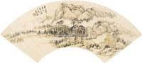 山水 扇面 设色纸本 - 王时敏 - 中国书画(一) - 2010秋季艺术品拍卖会 -收藏网