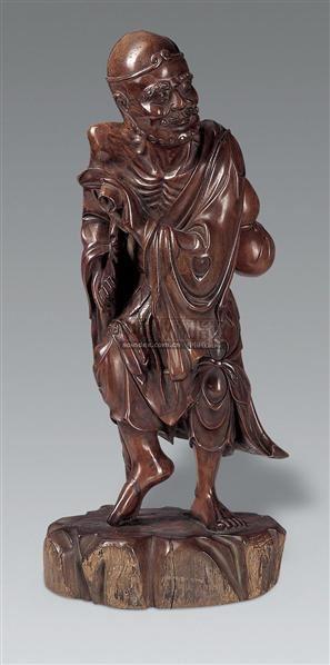 木雕铁拐李像 - - 中国瓷器