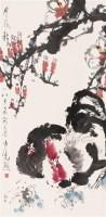 卢光照 大吉图 立轴 设色纸本 - 卢光照 - 中国书画 - 2006首届慈善拍卖会 -中国收藏网