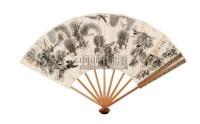 松鼠 成扇 纸本设色 - 虚谷 - 中国书画 - 2005年春季拍卖会 -收藏网