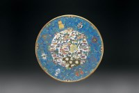 清中期 铜胎掐丝珐琅大盘 -  - 瓷器、工艺品及鼻烟壶 - 2006秋季艺术品拍卖会 -收藏网