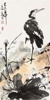 花鸟 立轴 纸本 - 康宁 - 保真作品专题 - 2011春季书画拍卖会 -收藏网