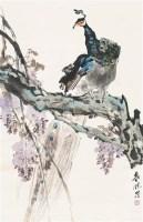 孔雀 立轴 设色纸本 - 139872 - 中国书画(一) - 2011年金秋精品书画拍卖会 -收藏网