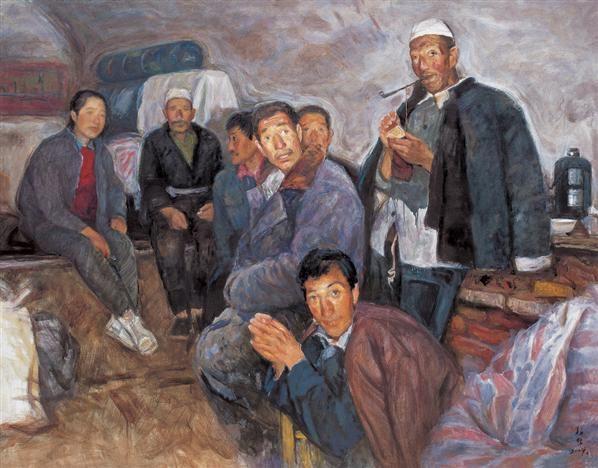 曹新林 2004年作 村委会 布面 油画 - 153342 - 中国当代油画 - 2006首届中国国际艺术品投资与收藏博览会暨专场拍卖会 -收藏网