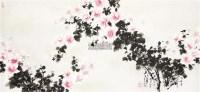 花卉 框 设色纸本 -  - 中国书画(二) - 2011秋季艺术品拍卖会 -中国收藏网