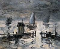 港湾 布面 油画 - 邱瑞敏 - 中国油画 雕塑影像 - 2006广州冬季拍卖会 -收藏网