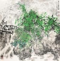 幽谷听泉图 镜心 设色纸本 - 51685 - 中国书画 - 2011首届书画精品拍卖会 -收藏网