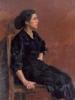 罗工柳 1956年作 蓝裙子 - 罗工柳 - 中国油画雕塑 - 2006秋季拍卖会 -收藏网