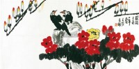 花开又是一年春 镜心 纸本 - 116481 - 中国书画(一) - 2011首届秋季艺术品拍卖会 -收藏网