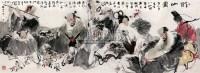 醉八仙 镜心 设色纸本 - 李晓白 - 中国书画 - 2008年冬季拍卖会 -收藏网