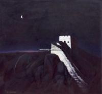 月照长城 (一件) 布面油画 - 张祖英 - 中国书画一 - 2011年春季大型艺术品拍卖会 -中国收藏网