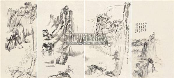 常州翰霆古典艺术宝塔张大千书画图片