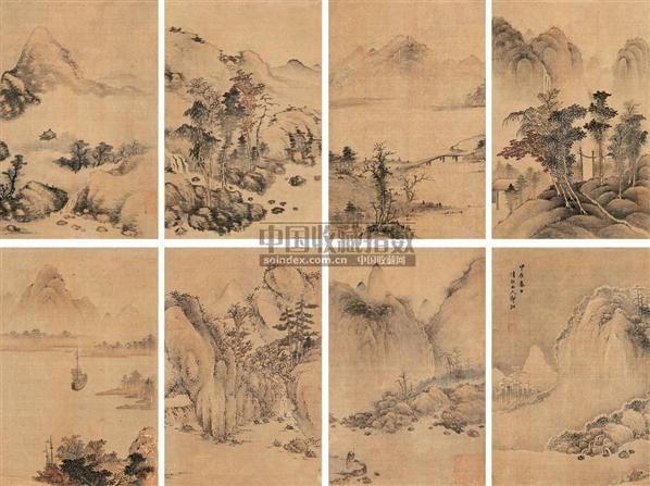 设色绢本-郭诩-中国古代书画图片